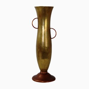 Vase en Cuivre et Laiton de Ariosa, 1930s