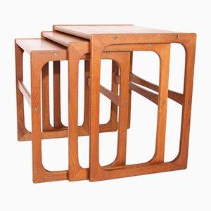 Tavoli ad incastro in teak di BR Gelsted, anni '60