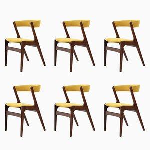 Esszimmerstühle aus Teak von Kai Kristiansen, 1960er, 6er Set