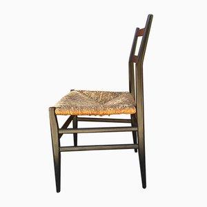 Modell Leggera Stuhl mit Sitz aus Papierkordelgeflecht von Gio Ponti für Cassina, 1952