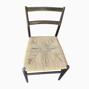 Leggera Stuhl mit Seilgeflecht von Gio Ponti für Cassina, 1950er