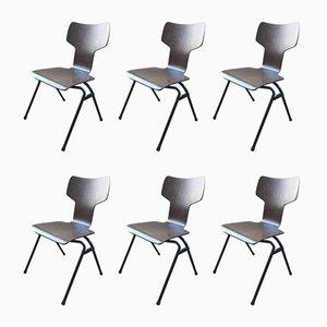 Chaises Vintage en Contreplaqué, Set de 6