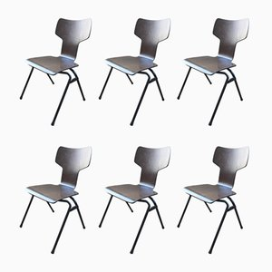 Vintage Plywood Chairs, Set of 6