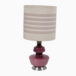 Lámpara de mesa danesa de vidrio, años 50