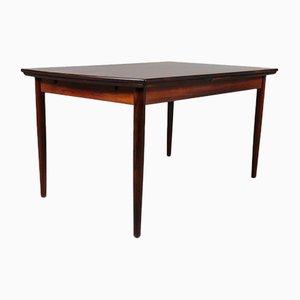 Mesa de comedor extensible de palisandro, años 50