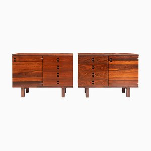 Brazilian Rosewood Side Cabinets by Jorge Zalszupin for L'Atelier, 1960s, Set of 2
