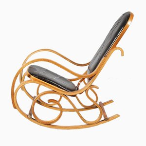 Plywood Rocking Chair by Luigi Crassevig, 1970s