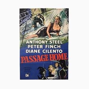 Póster de la película English Passage Home de Silvano Campeggi, años 50