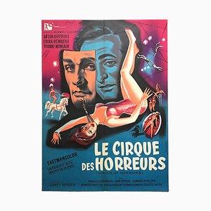 Póster francés de la película Circus of Horrors de Gilbert Allard, años 60
