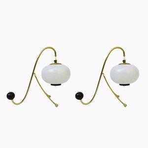 Lámparas de mesa vintage de Doria Leuchten, años 50. Juego de 2