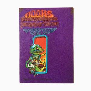 Litografía original de concierto, años 60