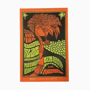Póster estadounidense de concierto de Jim Blashfield, 1969