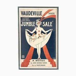 Poster del teatro Vaudeville con cornice di Georges Kugelmann Benda, anni '20