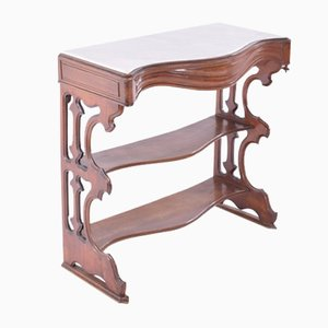 Antique Mahogany and Marble Console Table