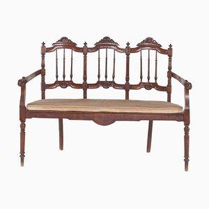 Canapé antiguo de cerezo