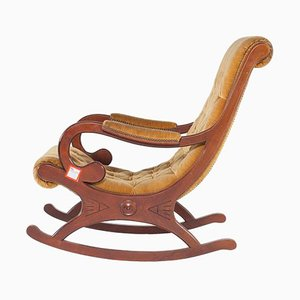 Rocking Chair Antique en Teck