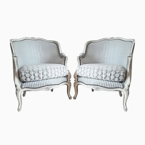 Antique Louis XVI Style Lounge Chairs, Set of 2