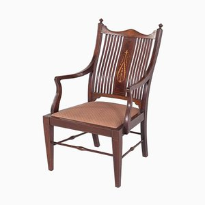 Antique English Mahogany Armchair