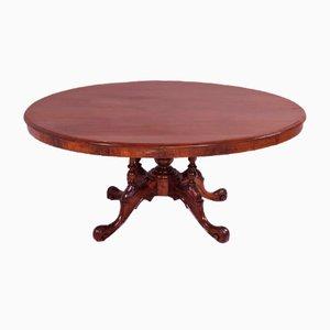 Tavolo da pranzo ovale antico vittoriano