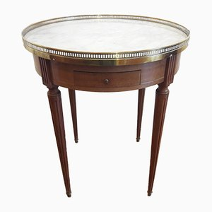 Louis XVI Style White Marble & Brass Side Table, 1940s