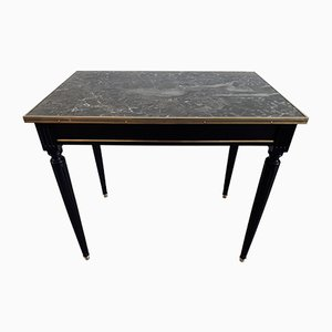 Louis XVI Grey Marble & Brass Serving Table, 1940s