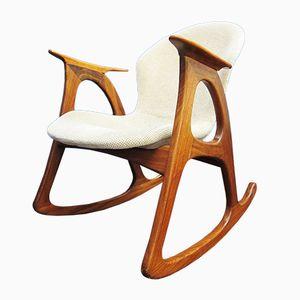 Rocking Chair en Teck par Aage Christiansen, 1960s