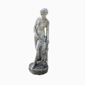 Estatua de jardín vintage de cemento, años 70