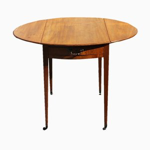 Mahogany Drop Leaf Table with Drawer, 1920s