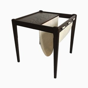 Mid-Century Danish Side Table with Magazine Rack from Brdr. Furbo