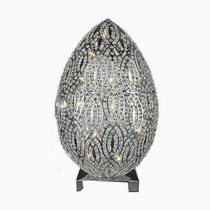 Arabeske Egg Tischlampe aus Stahl & Kristallglas von Giorgio Tesi für VGnewtrend