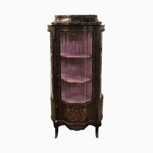 Louis XV Style Marquetry & Bronze Display Cabinet, 1920s