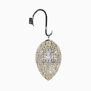 Arabeske Egg Wandlampe aus Stahl & Kristallglas von VGnewtrend