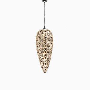 Kleine arabeske Sensation Hängelampe aus Stahl & Kristallglas von VGnewtrend