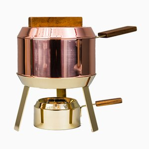 Fondue Pot and Burner by Carl Auböck, 1950s