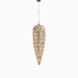 Lampada grande arabesque in acciaio e cristallo di VGnewtrend