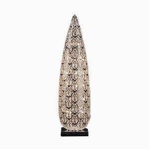 Arabeske Big Flame Tischlampe aus Stahl & Kristallglas von VGnewtrend