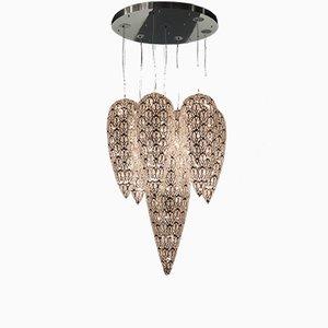 Arabesker Lightfall Kronleuchter aus Stahl & Kristallglas von VGnewtrend