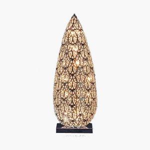 Kleine arabeske Flame Tischlampe aus Stahl & Kristallglas von VGnewtrend