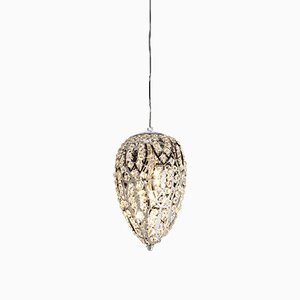 Small Steel & Crystal Egg Arabesque Pendant from VGnewtrend