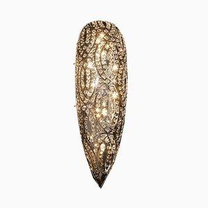 Kleine arabeske Drop Wandlampe aus Stahl & Kristallglas von VGnewtrend