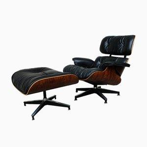 Sillón 670 vintage y otomana 671 de Charles & Ray Eames para Herman Miller, años 60