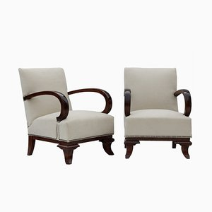 Art Deco Armchairs, 1922, Set of 2