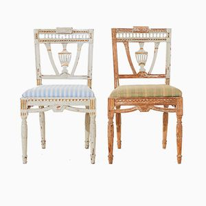 Gustavian Dining Chairs, 1880s, Set of 8