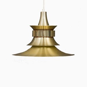 Brass Pendant by Bent Norsted for Lyskær, 1970s