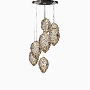 Arabesker Egg Kronleuchter aus Stahl & Kristallglas von VGnewtrend