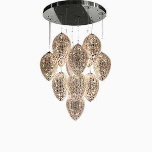 Egg 75 Arabesque Cluster Chandelier with 14 Lamps from VGnewtrend