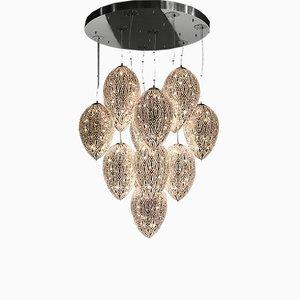 Lámpara de araña Egg 75 Arabesque con 14 luces de VGnewtrend