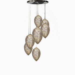 Lampadario Egg arabesque in acciaio e cristallo di VGnewtrend