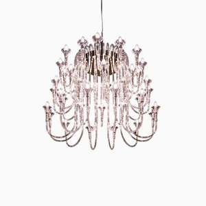 Borosilicate Glass & Steel 36-Arm Octopus Chandelier from VGnewtrend