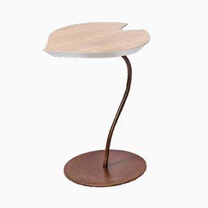 Table Basse en Bois de Chêne Blanchi & Feuille de Fer par Patrizia Guiotto pour VGnewtrend